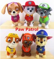 Wholesale Puppy Patrol Plush Dolls Toys Walking Barking Musical Patrol Robot Dog Electronic pet Toys Kids Gifts