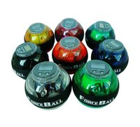 Wholesale E0686 NEW color optional Gyroscope LED Wrist Strengthener Ball arm Grip Ball Power with LED SPEED METER