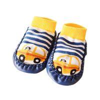 Meilleure offre Nouveau Soft 1 paire Cartoon mignon Enfants Toddler Bébés Chaussette antidérapante Chaussettes Slipper Chaussettes pour 0-24 Mois cadeau