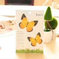 Wholesale Several Shippings yellow notes sticky notes limited selling butterfly dance stickers