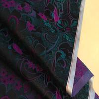 brocade fabric - Brocade fabric Ancient costume fabrics of hanfu kimono robe brocade cloth fabric black bottom with hot pink peony