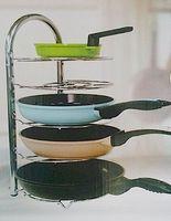 Wholesale Frying Pan Rack Organizer Stainless Steel Kitchen Utensils Storage Pot Pan Dish Shelf Stand Shelf Holder