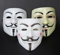 Wholesale v for vendetta mask guy fawkes full fack anonymous party decoration halloween mens masquerade masks on a stick