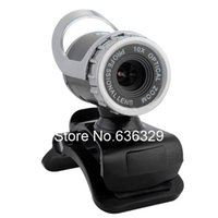 Wholesale 800W USB HD Webcam Camera Web Cam Web Camera with MIC For Computer PC Laptop Silver Plastic