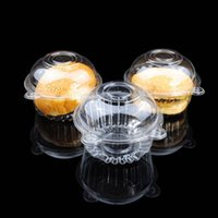 individual cupcake boxes - 100pcs Individual Clear Plastic Cupcake Boxes Single Muffin Cake Container Case Pods Domes Holder