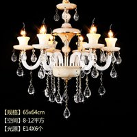 Wholesale European style chandelier zinc alloy high grade jade crystal chandelier chandelier marble Crystal hanging lamp room restaurant