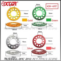 Wholesale High quality dirt bike motorcycle scooter CNC chain rear sprocket Tooth mm only sales in Russia