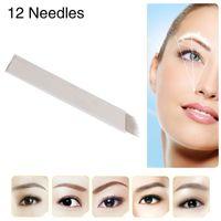bevel blade - Chuse S12 Fashion Permanent Eyebrow Makeup Tattoo Bevel Blades Needles for Manual Tattoo Pen