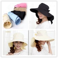 dress hats - Hot sale Womens dress hats Cotton Wide Brim Hats New style floppy hat Summer cool UV cycling sun hat