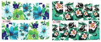 accessories postage - Style piece Vintage Flower Sticker On Nail Nail Accessories Water Transfer Postage Stamp Decal Nail Art Decoration Stickers