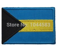 bahamas flags - 10 Pieces Bahamas Flag x cm World Flag Embroidered Applique Iron on Patch FL
