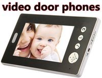 Wholesale 7 inch GHz wireless video door phones with wireless CMOS camera outdoor station for villas