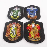 Wholesale School Badge Harry Potter Patch Embroidered Badge Armband Ravenclaw Gryffindor Slytherin Hufflepuff Styles Selecting