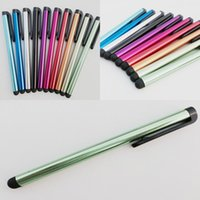 Wholesale Capacitive Screen Stylus Pen Touch Pen For iPhone iPad iTouch Samsung Galaxy Sony LG Moto All Cellphone iPad Tablet PC MOQ
