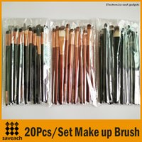 Cheap TOP Quality Professional 20PCS Set Cosmetic Facial Make up Brush Kit Wool Makeup Brushes Tools Set 3 Color