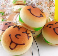 kawaii - New cm Kawaii Keychain for Phone Squishys Bun Hamburger Rare Squishy Bread Bag Charm