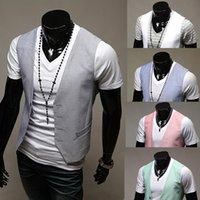 Wholesale Fall new men s solid color coat vest Slimhot