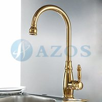 antique gold basin taps - Golden Gold Retro Swivel Hose Spray Single Handle Nickle Brushed Antique Brass Deck Mounted Mixers Kits Kitchen Basin Taps