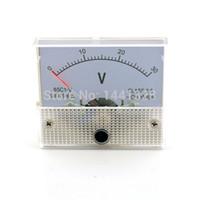 Оптово-DC 30V аналогового напряжения Вольт метр тестер метр панели Вольтметр Манометр 0-30V Обеспечение высокого качества