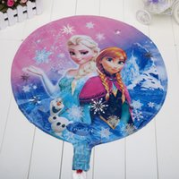 Multicolor balloons china - 6 Frozen bubble balloon Frozen balloons foil balloons made in China in stock