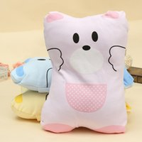Wholesale 3 Color Choice Baby Pillow Case Flat Head Pillow Sleep Positioner Kid Infant Memory Foam Support Prevent
