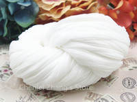al por mayor mariposas de nylon blanco-Flor de mariposa del mayor-CZS el envío libre al por mayor de nylon blanco medias de seda hecho a mano Materiales 24PCS / Lot DIY Accesorios