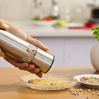 Wholesale 1 Stainless Steel Manual Pepper Salt Grinder Spice Mill Cooking Kitchen Tool cooking tools x cm Free Shipment