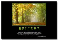 believe painting - Believe Motivational Quotes Silk Poster Print For Office Decor x36 inch
