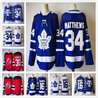 26c179b28 Ice Hockey Men Full 2018 New Season Toronto Maple Leafs Blue  16 Mitch  Marner
