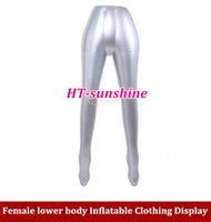 Wholesale 2pcs NEW Female lower body inflatable model clothing models props show the human body stockings underwear model order lt no tr