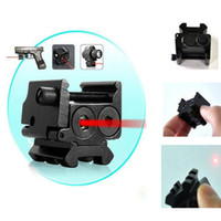 laser sight - New Hot With Detachable Picatinny Rail Black Compact nm Red Laser Gun Sight L0444 W0
