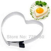 Wholesale Kitchen DIY Kitchenware Creative Heart shaped Omelette circle Love omelette Heart omelette mold