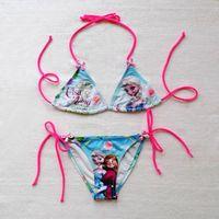 baby swimwear - Tankinis for years old girls swim suits frozen design princess print swimwear swimsuit baby girls bathing suits swim wear