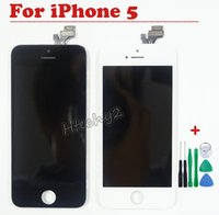Cheap 1 PCS Black White LCD Display Digitizer Touch Screen for iPhone 5 5G, for iPhone5 LCD Assembly Replacement with Open Tools