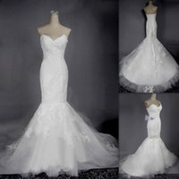 pink bandage dress - 2015 Italian Mermaid Wedding Dresses Supplies V neck White Lace Bandage Real Picture Bridal Gowns Western Bride Dress Vestido Para Casamento