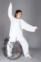 Wholesale and autumn clothing cotton clothes and Tai Chi Martial Arts Taijiquan clothing for men and women easy wash do not fade