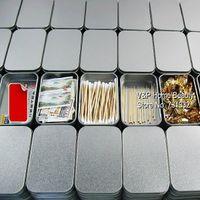 Wholesale 18 Silver Tin storage box metal organizer box for Zakka Cigarette case Casket Zakka Novelty households