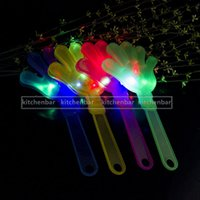 Wholesale LED Flash Light Color Changing hand toys Hand Clapper for football cheerleading Party Concert Activity Cheer Props Kid Toy