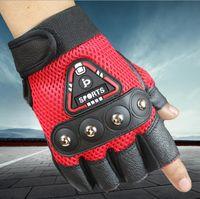 active rocks - roduce outdoor rock climbing boxing cycling glove Sunscreen antiskid rivet tactical half new gloves