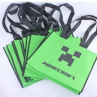 shopping bags paper - DHL Minecraft Shopping bags Minecraft gift bag Minecraft Tote bags high quality party ECO Friendly bag
