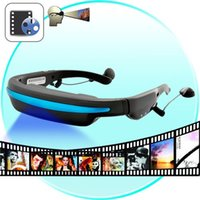 Wholesale 2015 New Hot GB quot Wide Screen HD D Stereo Virtual Video Glasses Eyewear Mobile Theatre Music Player Ebook