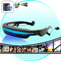 Wholesale 2015 New Hot GB quot Wide Screen HD Stereo Virtual Video Glasses Eyewear Mobile Theatre Music Player Ebook