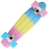 Wholesale Upgrade High Quality Tricolor Skateboard Complete quot x quot Mini Longboard Boy Girl Retro Cruiser Skateboard Skate