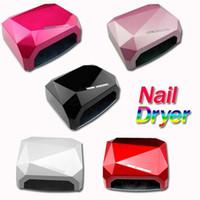 nail uv lights - 36W LED CCFL Nail Dryer Diamond Shaped Best Curing uv Lamp Machine UV Gel led lamp Nail Polish light to Nail tools