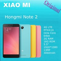 Wholesale Original Xiaomi Redmi Note Two Hongmi Phone G LTE MTK X10 Octa Core bit G RAM G ROM quot MP mAh Cellphone