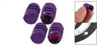 Wholesale x Purple Hexagon Aluminum Alloy Tire Valve Caps for Car Auto