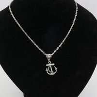 anchor chain length - Hot Europe and America Simple Antique silver Alloy Anchors Pendant Necklace Chain length cm