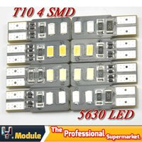 Wholesale 200X No Error W5W T10 SMD led Canbus Car Width Side Clearance IndicatorLed bulb white yellow red blue V YNB54