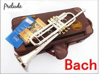 Wholesale EMS Silveriness bach gold key tr s Small musical instrument one piece bell professional grade