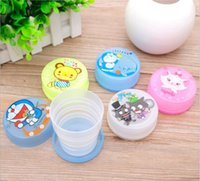 Wholesale 2015 Cartoon Folded Cups Children s Gifts Traveling Compressed Water Glass Portable Flexible Cups Convenience Package Glass Hot Sale